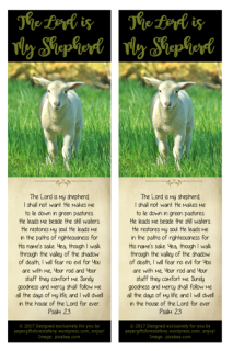 Psalm 23; Shepherd's Psalm; Bible Bookmark; free printable