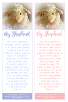 Psalm 23; Shepherd's Psalm; Bible Bookmark for younger children; free printable