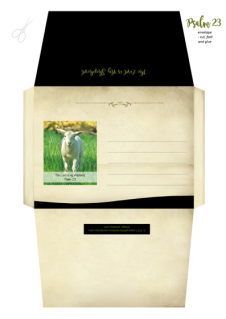Psalm 23; Shepherd's Psalm; Envelope with Bible verse; free printable