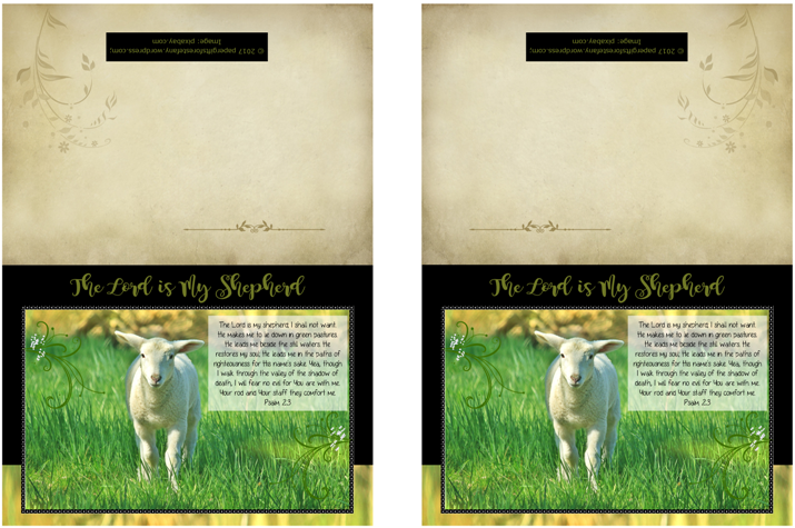 Psalm 23; Shepherd's Psalm; Bible Note Cards; free printable