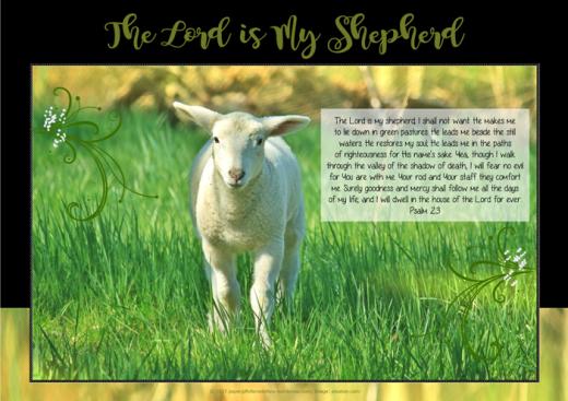 Psalm 23; Shepherd's Psalm; Bible Poster; free printable