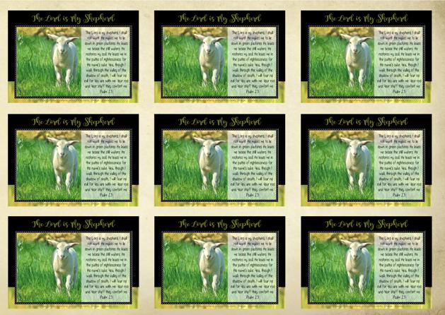 Psalm 23; Shepherd's Psalm; Bible Wallet Cards; free printable