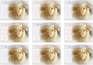 Psalm 23; Shepherd's Psalm; Bible Wallet Cards for younger children; free printable