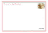 Psalm 23; Shepherd's Psalm; Frame with Bible verse for younger children; free printable