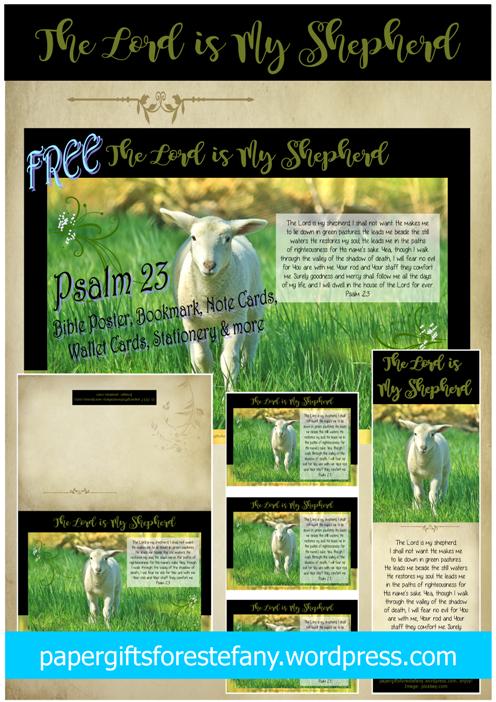 Psalm 23 Shepherd's Psalm free printables