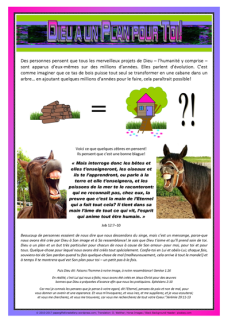 God Has a Plan 4U Article for kids in FRENCH; free printable