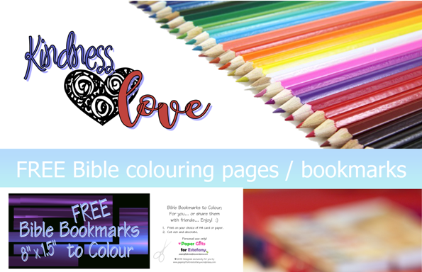 Kindness Amp Love Free Scripture Doodles Bookmarks To