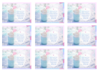 FREE wallet cards with Bible verse from Ephesians 3:19; perfect to make you feel warm and cosy on a snowy day, this delicious cup of hot chocolate or coffee is wrapped in a soft aqua woollen jumper and set among the sparkling snow, filled with whipped cream and embellished with a pink heart; free printable