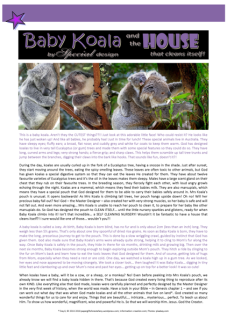 FREE koala article for kids giving glory to God as designer; free printable
