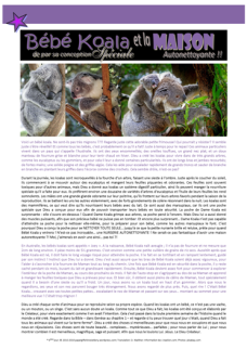 FREE koala article for kids in FRENCH; giving glory to God as designer; free printable