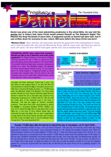 Daniel 69 Weeks Prophecy | Triumphant Entry Article for Kids; free printable