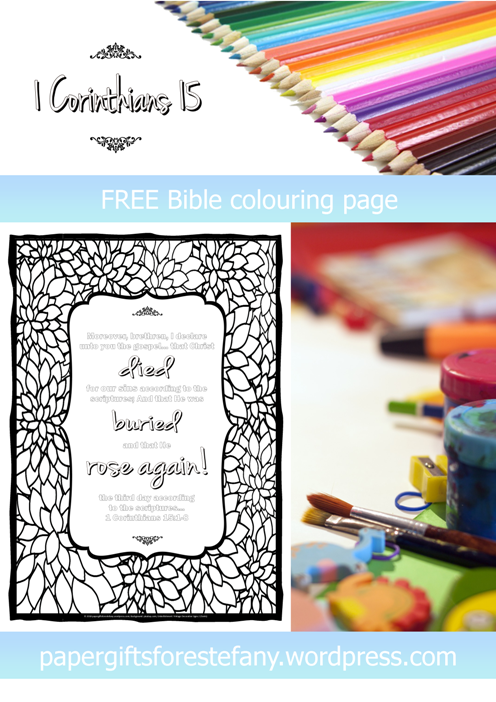 FREE Scripture Doodle; 1Corinthians 15:1-8; free printable