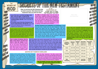 In the Footsteps of Jesus - Secrets of the New Testament - free apologetics article for kids A4; free printable