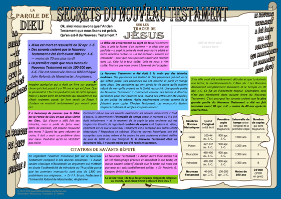 FRENCH - In the Footsteps of Jesus - Secrets of the New Testament - free apologetics article for kids A4; free printable
