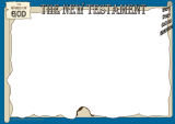 In the Footsteps of Jesus - Secrets of the New Testament - free colouring or puzzle page border frame for kids - landscape A4; free printable