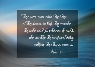 FREE Bible Poster; Acts 17:11; free printable