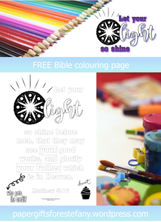 FREE Scripture Doodle; Matthew 5:16; free printable