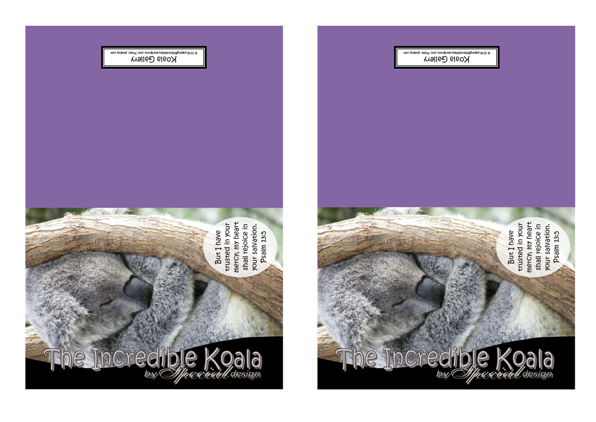 FREE Koala Note Cards on purple background with Bible verse from Psalm 13:5; free printable
