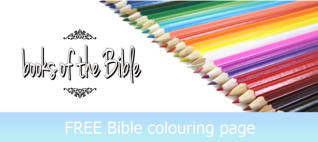 Books of the Bible; list to colour; free printable