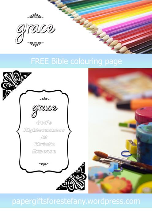 FREE Scripture Doodle; Grace; free printable