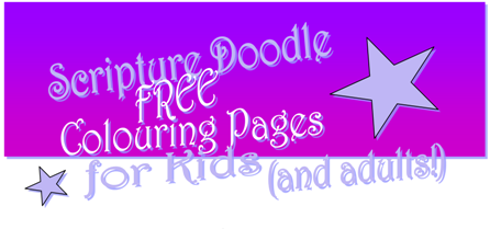 FREE Scripture Doodle Bible verse colouring page; John5:39; free printable