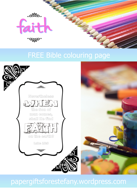 FREE Scripture Doodle with Bible verse from Luke 18:8; free printable