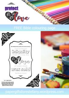 FREE Scripture Doodle; Matthew 24:12; free printable