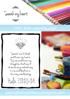 FREE Scripture Doodle; Psalm 139:23-24; free printable