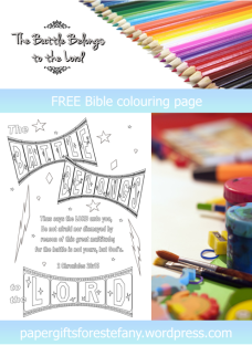 FREE Scripture Doodle; 2 Chronicles 20:15; The battle belongs to the Lord; free printable