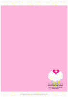 FREE stationery on pink background with delicious pink and white cupcake with sprinkles, a tiny gold star and pink hearts; Bible verse from Psalm 119:103; free printable
