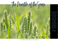 FREE The Parable of the Sower Poster; Matthew 13:23; free printable