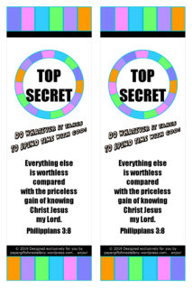 Bible Treasure Theme colourful bookmarks for kids; free printable
