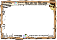 Bible Treasure Theme for kids; blank frame (landscape) for stationery or to jazz up your colouring pages and puzzles; free printable