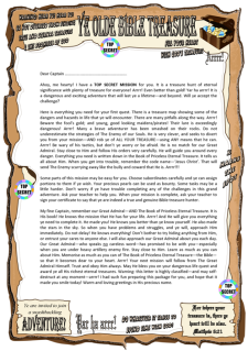 Bible Treasure Stationery (and sample letter) for kids; free printable