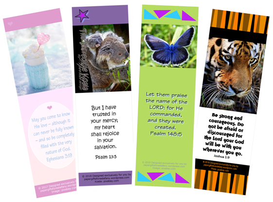 photo about Printable Bible Bookmarks named Cost-free Bible Bookmarks Paper Items for Estefany