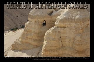 Dead Sea Scrolls Postard of Qumran; free printable