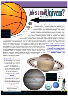 zFRENCH Universe article for kids giving glory to God as designer; free printable