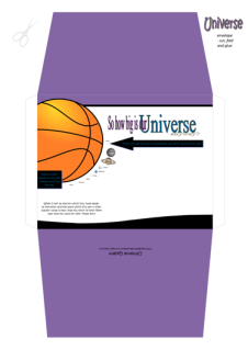 FREE Space / Universe envelope for kids showing how big Earth and the planets are compared to the sun; with Bible verse from Psalm 8:3-4; giving glory to God as designer; free printable
