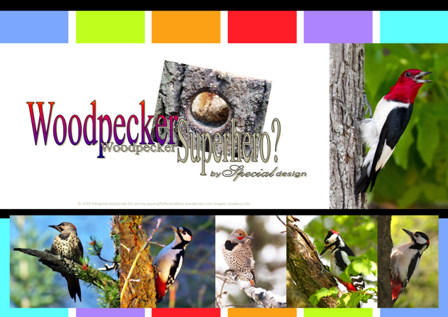 FREE Woodpecker article for kids giving glory to God as designer; free printable