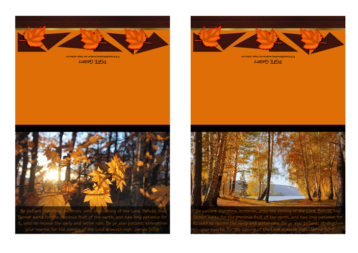 FREE Fall / Autumn note cards with Bible verse from James 5:7-8; free printable