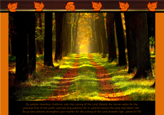 FREE Fall / Autumn Poster with Bible verse from James 5:7-8; free printable