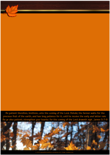 FREE Fall / Autumn stationery with Bible verse from James 5:7-8; free printable