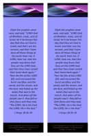 FREE Elijah bookmark with Bible verses from 1 Kings 18:36-39; free printable