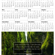 FREE 2020 calendar with Bible verse and photo of beautiful gorge; free printable