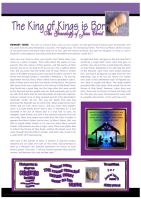 FREE Genealogy of Jesus - Christmas article for kids; free printable