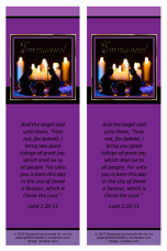 FREE Christmas Nativity bookmark with Bible verse from Luke 2:10-11; free printable