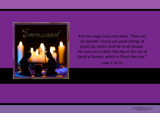 FREE Christmas Nativity poster with Bible verse from Luke 2:10-11; free printable