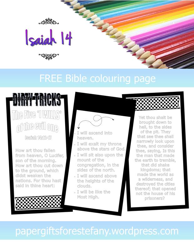 FREE Scripture Doodle - Isaiah 14; free printable