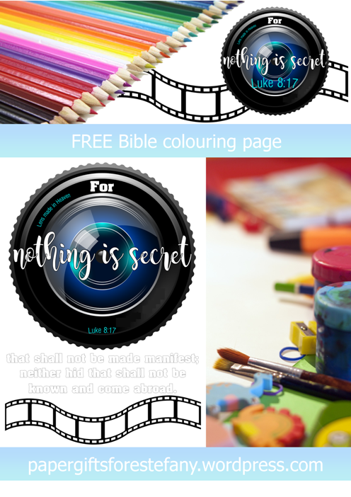 FREE Scripture Doodle Luke 8:17 free printable