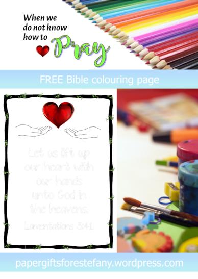 FREE Scripture Doodle; Lamentations3.41; free printable